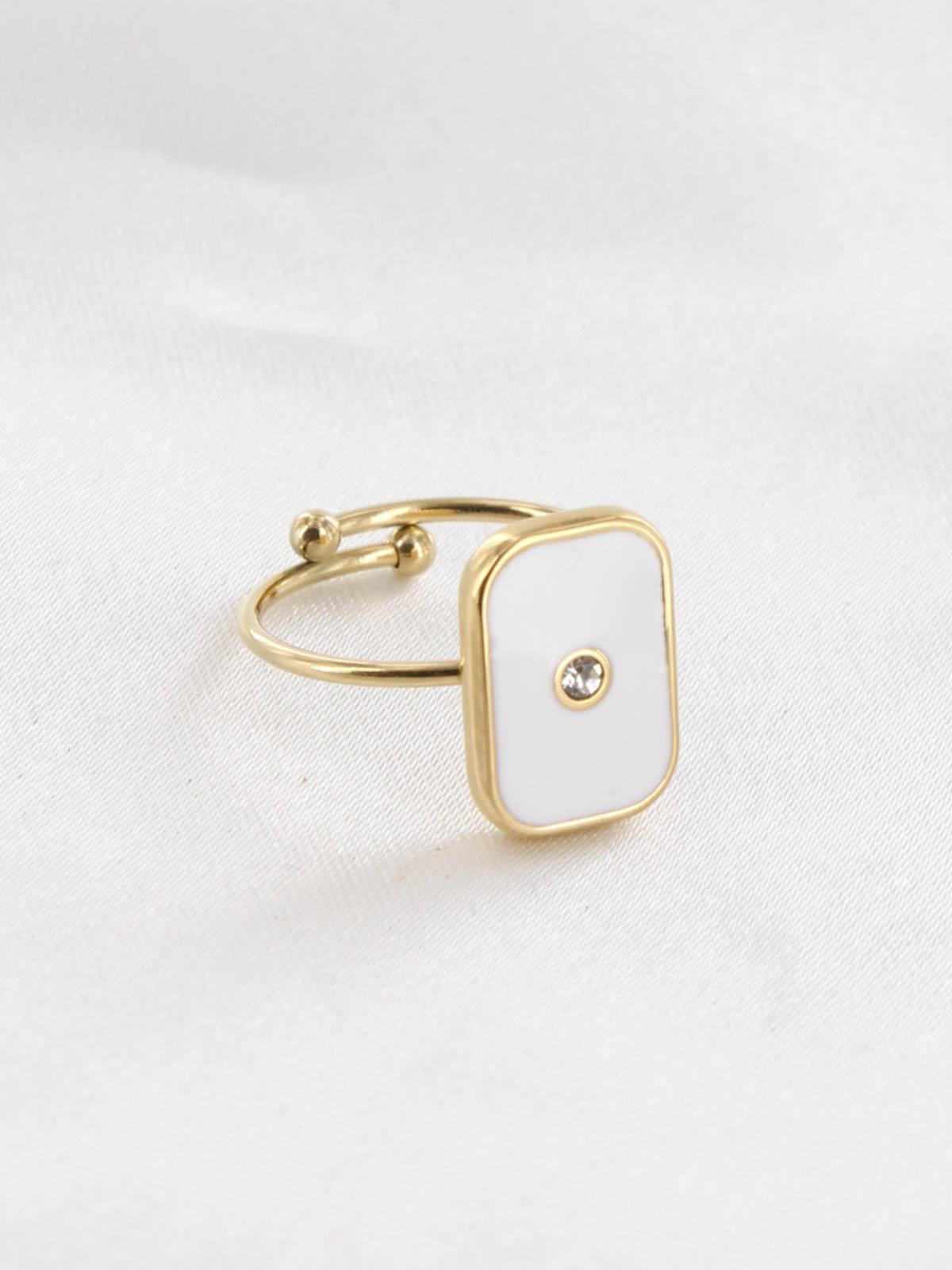 Bague Solly Blanc Or