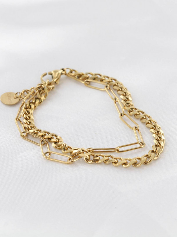 Bracelet Double Maille Or