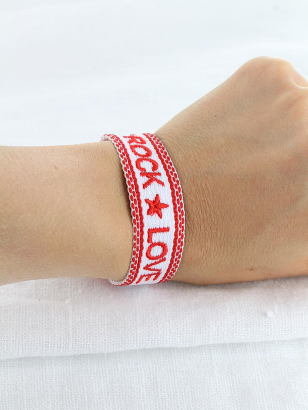 Bracelet Rock Love  Rouge