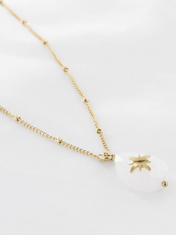 Collier Ana Blanc Or