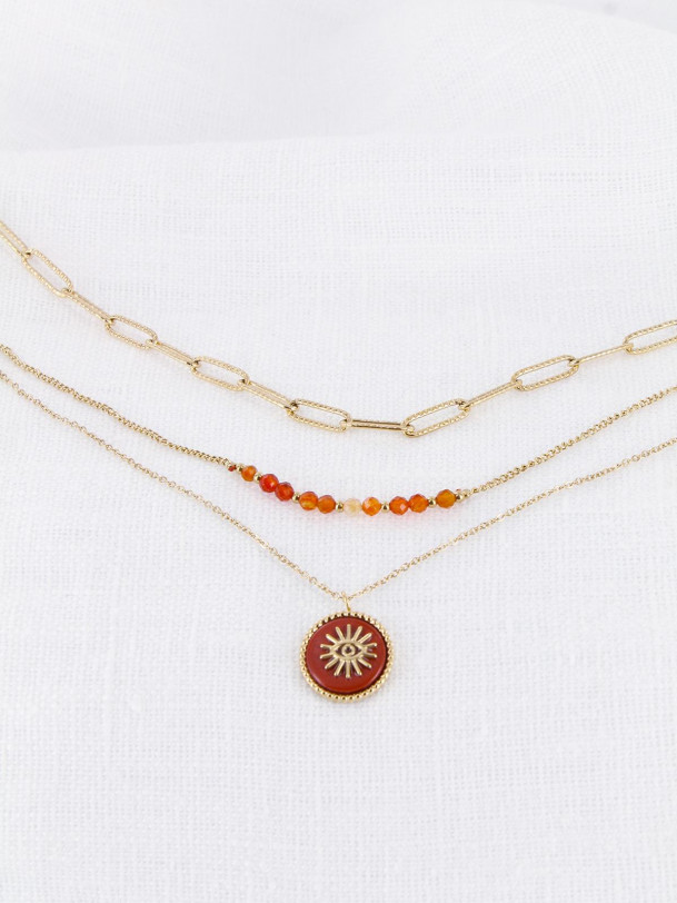 Collier Anne-Lise Corail Or