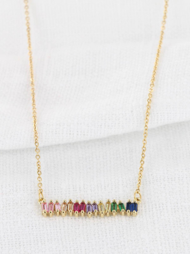 Collier Arc en Ciel Or