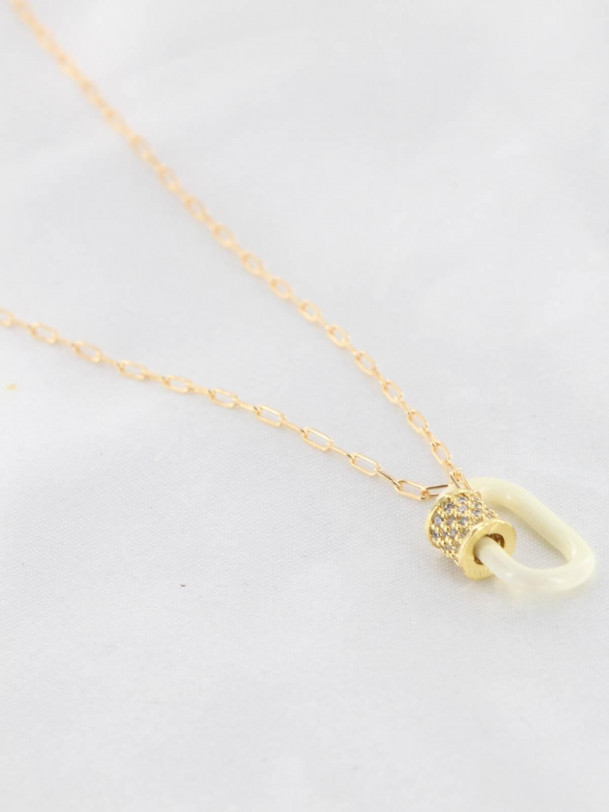 Collier Beatrice Blanc Or