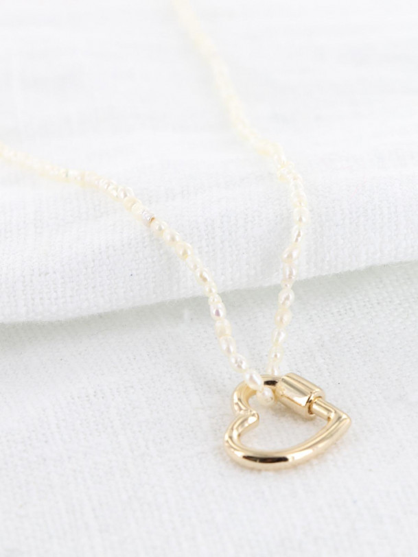 Collier Charlotte et Perle Or