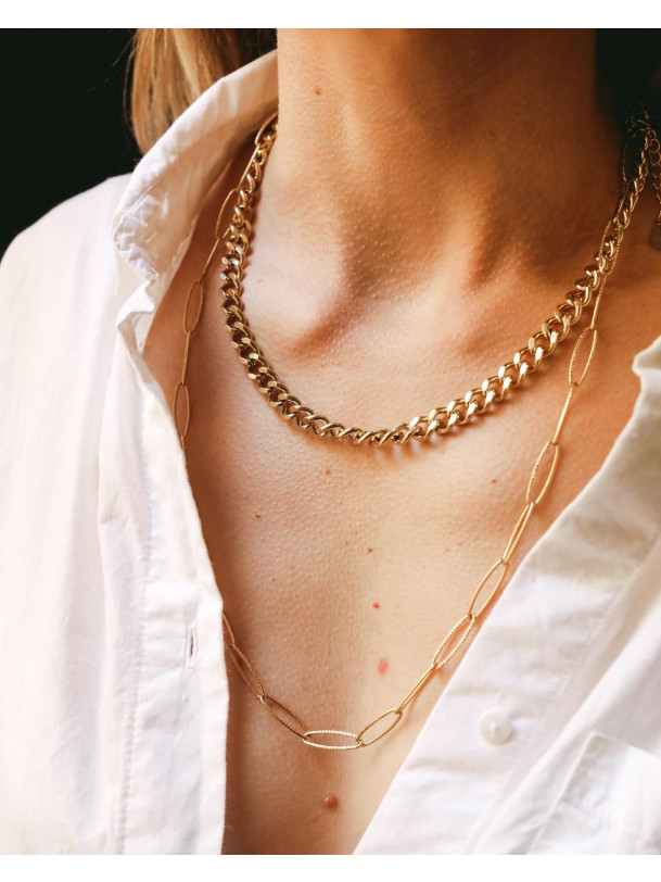 Collier Grosse Chaine Cara Or