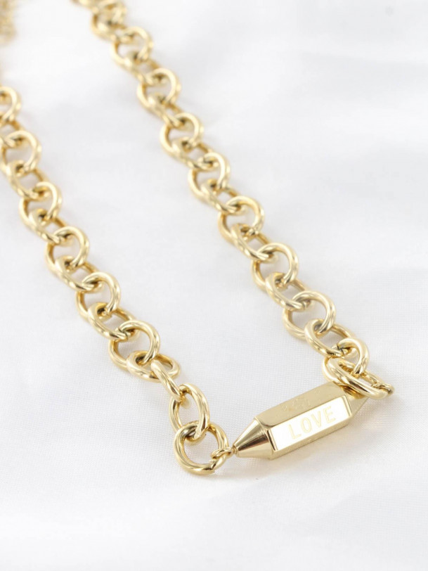 Collier Love Lucky  and Happy Or