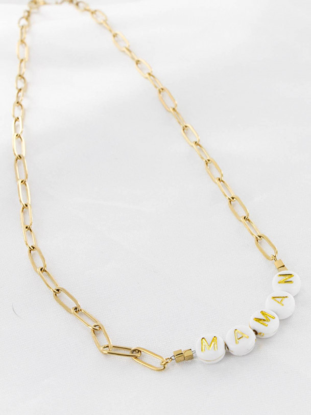 Collier Maman Or