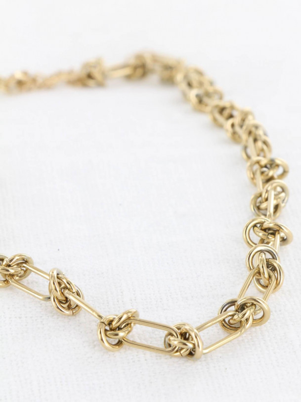 Collier Noeud Or