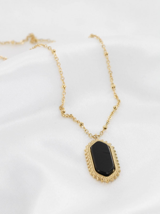 Collier Ona Noir Or
