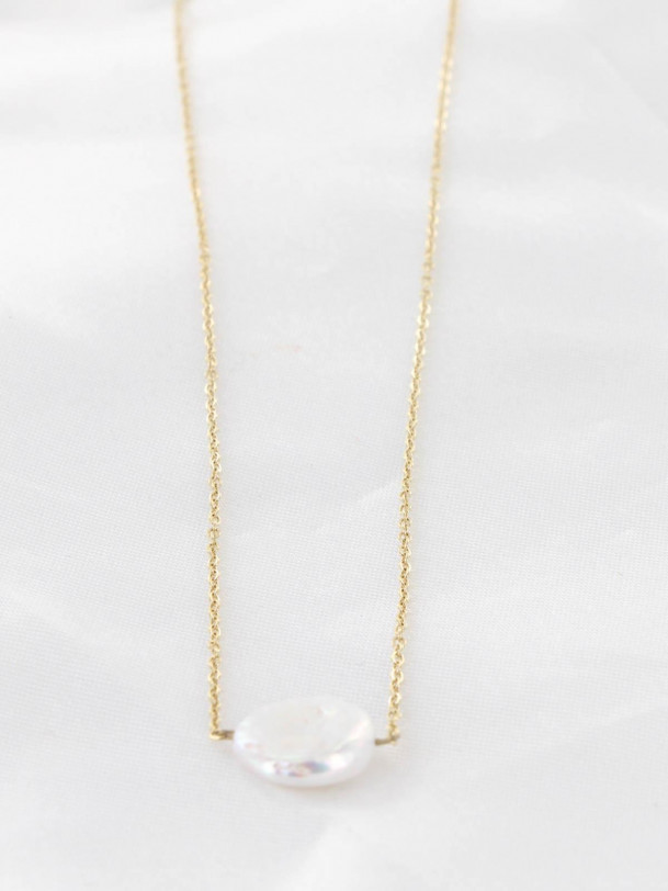 Collier Rosa perle Or