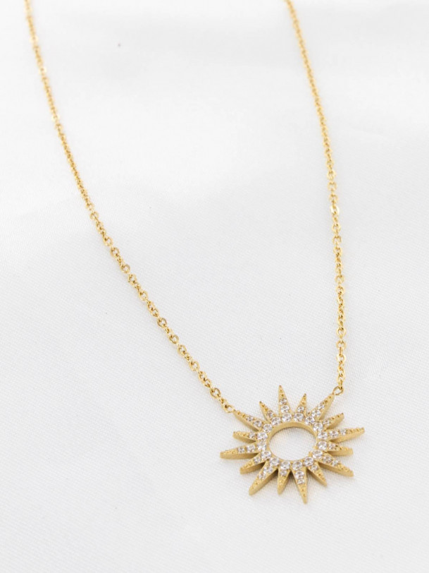 Collier Soleil Or