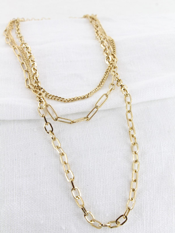 Collier Suzy 3 rangs Or