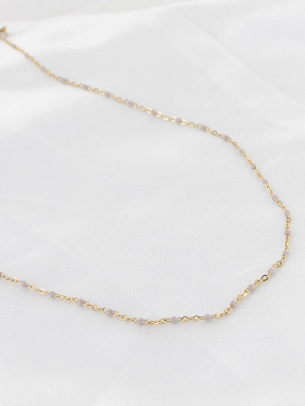 Collier Tania Beige Or