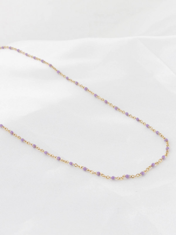 Collier Tania Violet Or