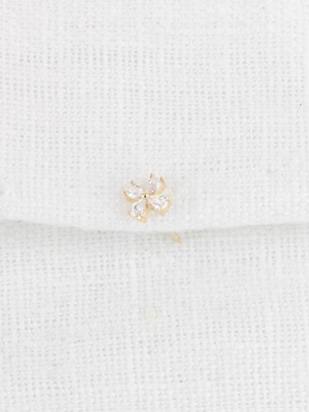 Mono boucle Flower Or